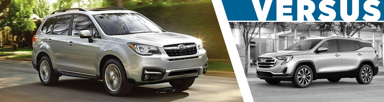 2018 Subaru Forester Vs Gmc Terrain Features Details Compact Suv