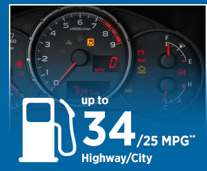 The Subaru BRZ gets up to 32/24 MPG highway/city