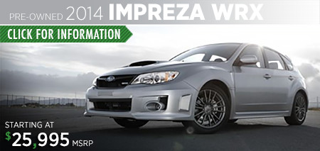 Subaru Certified Pre-Owned Impreza WRX Models