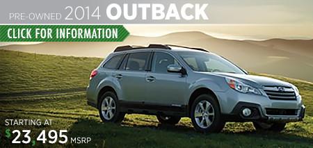 Subaru Certified Pre-Owned Outback Models
