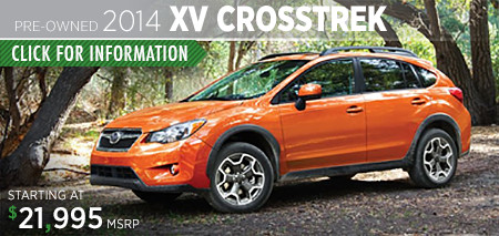 Subaru Certified Pre-Owned XV Crosstrek Models