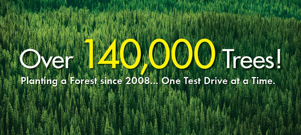 Carter Subaru has planted over 140,000 trees since 2008 with your help