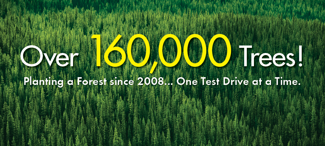 Carter Subaru has planted over 160,000 trees since 2008 with your help