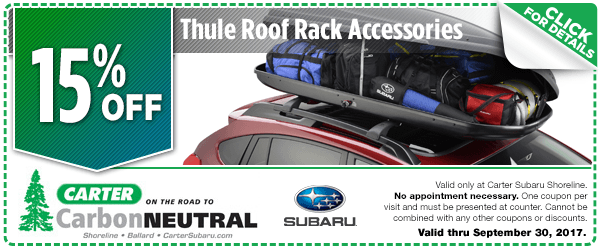 Click to View Our Thule Roof Rack Accessories Parts Special at Carter Subaru Shoreline in Seattle, WA