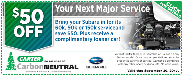 Seattle Subaru Major Service Special