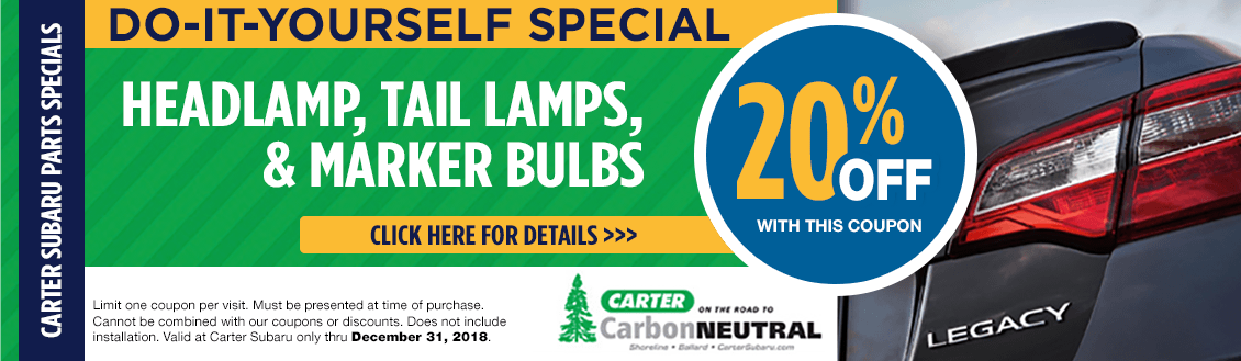 Save on Exterior Lights & Bulbs at Carter Subaru Shoreline in Seattle, WA