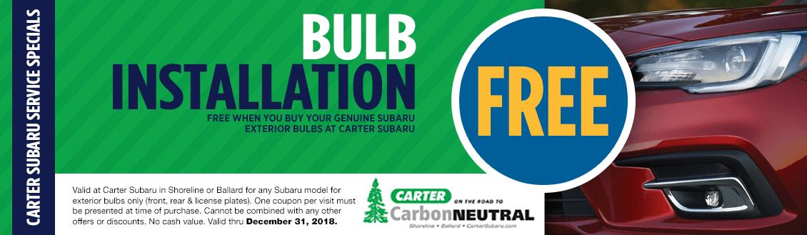 Save on your Next Subaru Headlight Bulb Replacement Service at Carter Subaru Shoreline with this Coupon