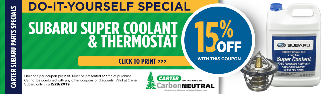 Save Now on Engine Coolant and Thermostat at Carter Subaru Shoreline in Seattle, WA