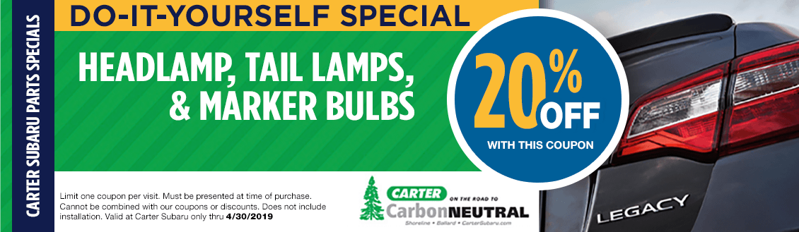 Save on Exterior Lights & Bulbs at Carter Subaru Shoreline in Seattle, WA