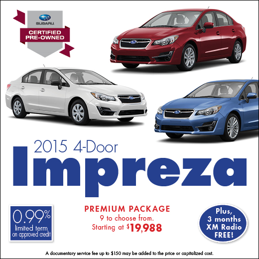 Click to see our full inventory of certified pre-owned 2015 Impreza models at Carter Subaru Shoreline in Seattle, WA