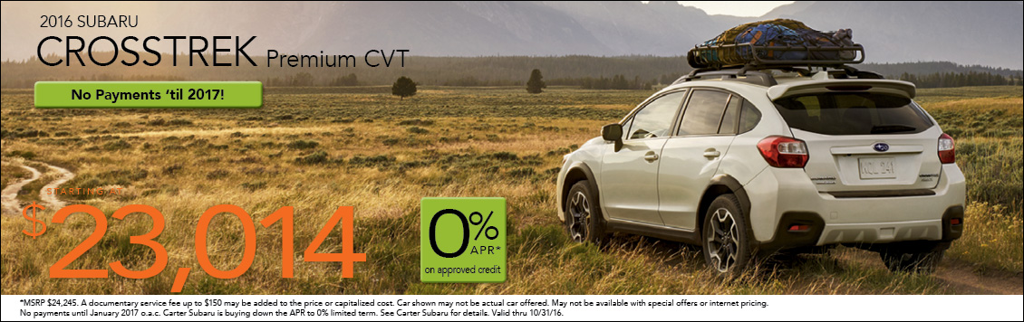 Save with new Subaru Crosstrek special offers from Carter Subaru Shoreline in Seattle, WA