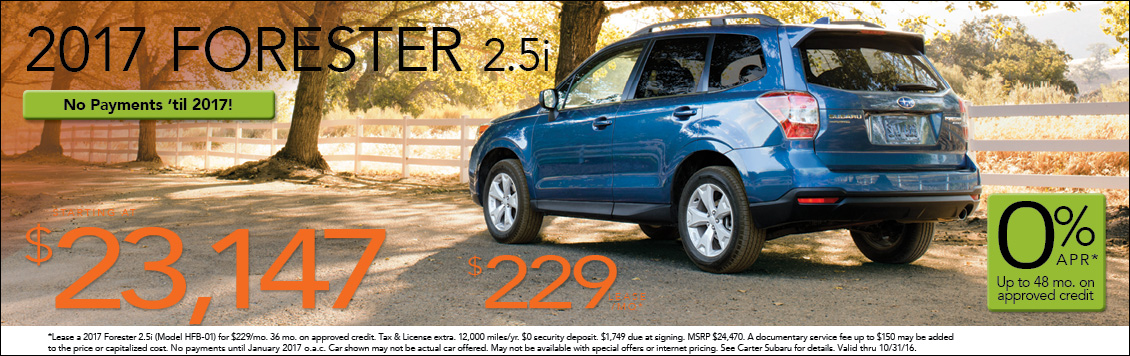 Save with new Subaru Forester special offers from Carter Subaru Shoreline in Seattle, WA