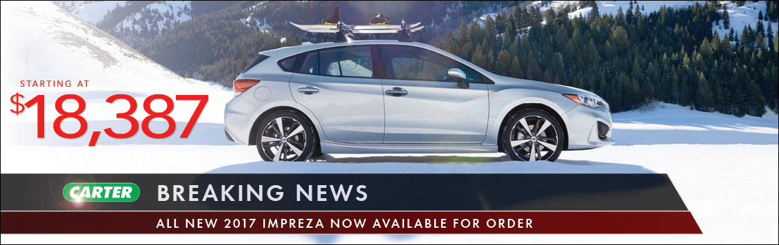 Save with new Subaru Impreza special offers from Carter Subaru Shoreline in Seattle, WA