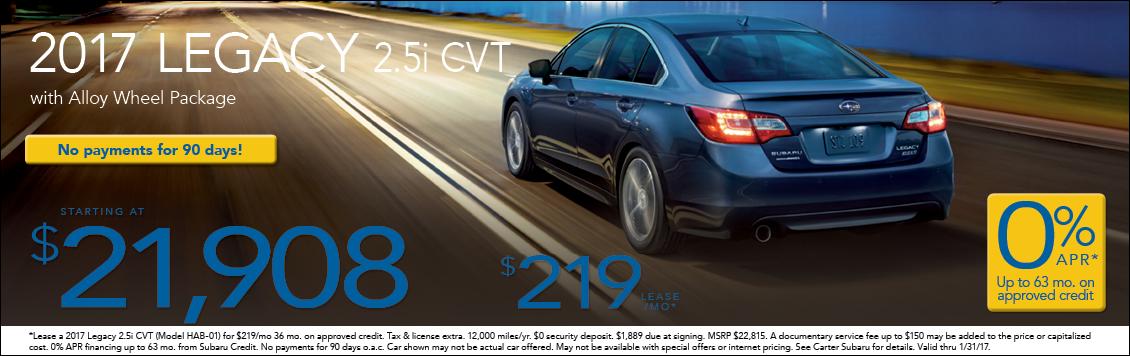 Take advantage of the current 2017 Subaru Legacy sedan special purchase & lease discounts in Seattle at Carter Subaru Shoreline