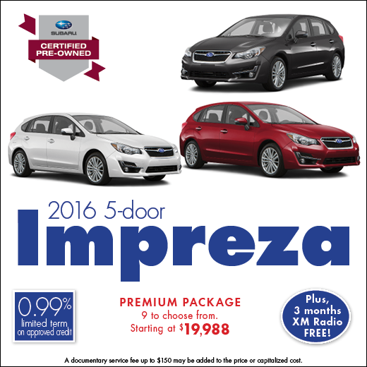 Click to see our full inventory of certified pre-owned 2016 Impreza models at Carter Subaru Shoreline in Seattle, WA