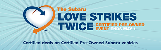 The Subaru Love Strikes Twice Certified Pre-Owned Event in Seattle, WA