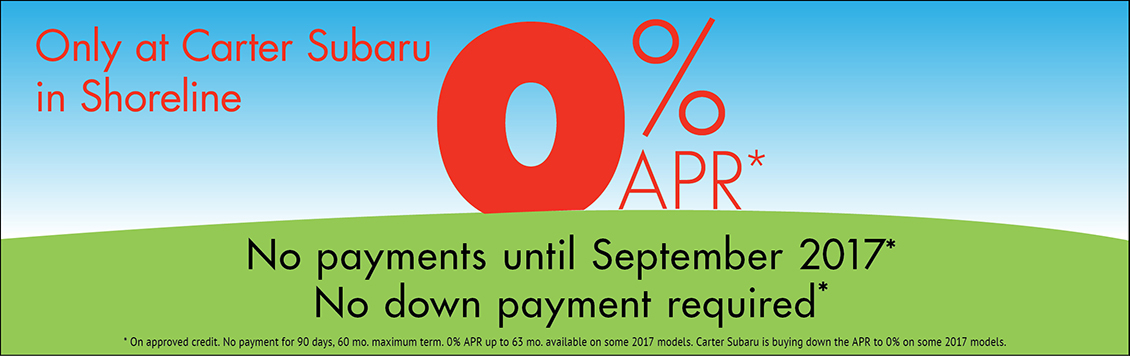 No Payments For 90 Days and APR Financing as low as 0% in Seattle, WA