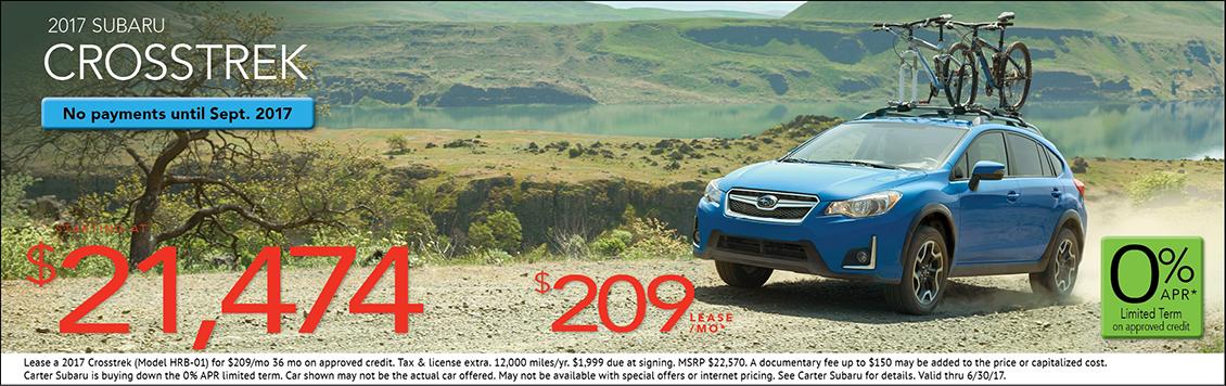 2017 Subaru Crosstrek 2.0i Lease or Sales Special in Seattle, WA