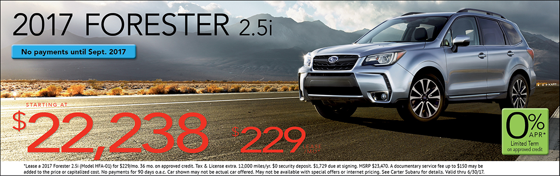 2017 Subaru Forester 2.5i Lease or Sales Special in Seattle, WA