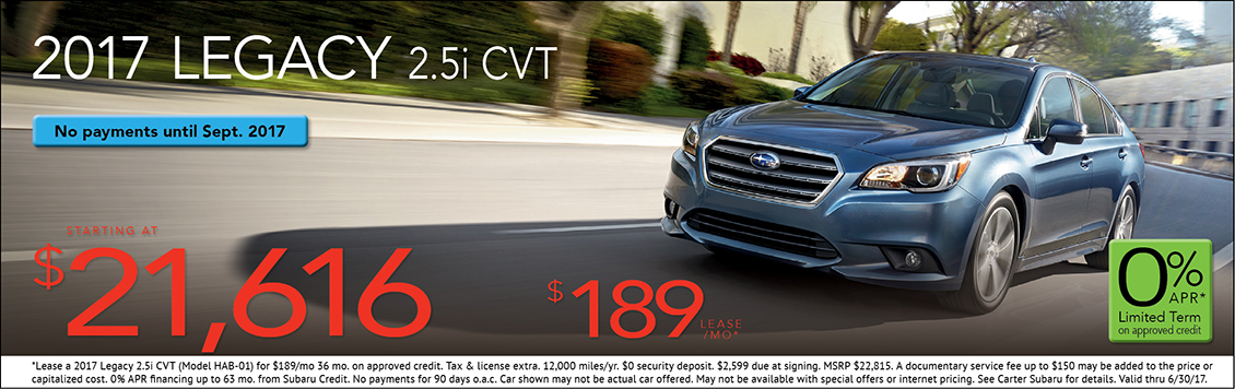 2017 Subaru Legacy 2.5i w/ CVT Automatic Sales or Lease Special in Seattle, WA