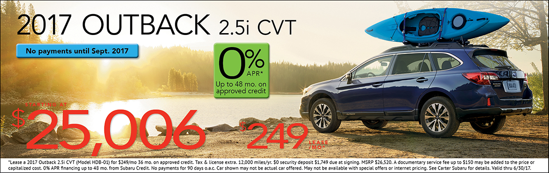 2017 Subaru Outback 2.5i Lease or Sales Special in Seattle, WA