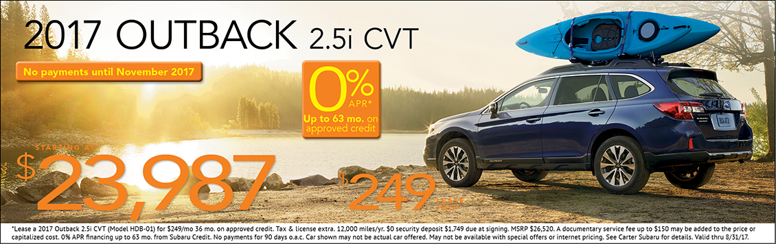 2017 Subaru Outback Sales & Lease Special in Seattle, WA
