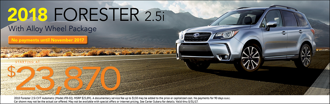 2018 Subaru Forester 2.5i Sales Special in Seattle, WA