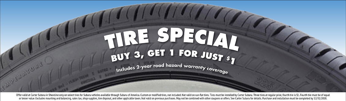 Save During Our December Tire Sales Event at Carter Subaru  Shoreline in Seattle, WA