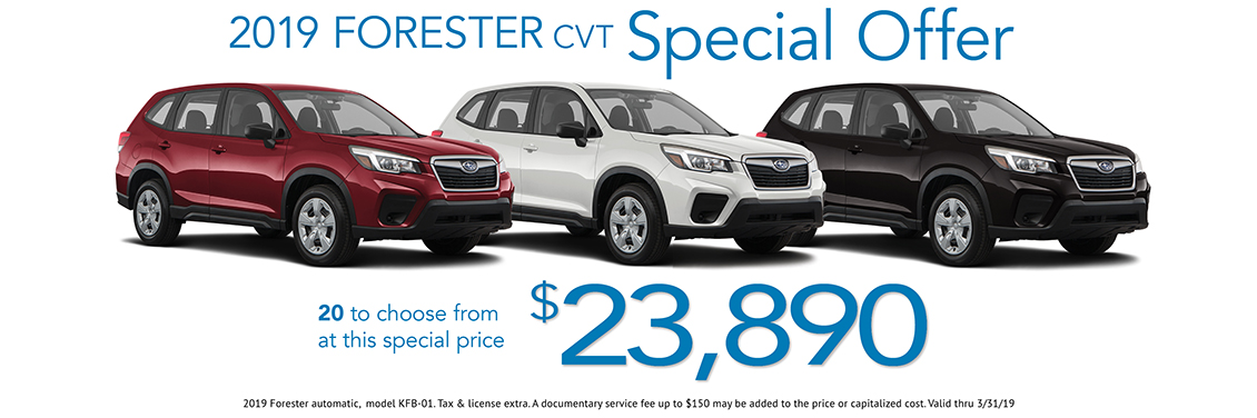 2019 Forester CVT Sales Special at Carter Subaru Shoreline in Seattle, WA