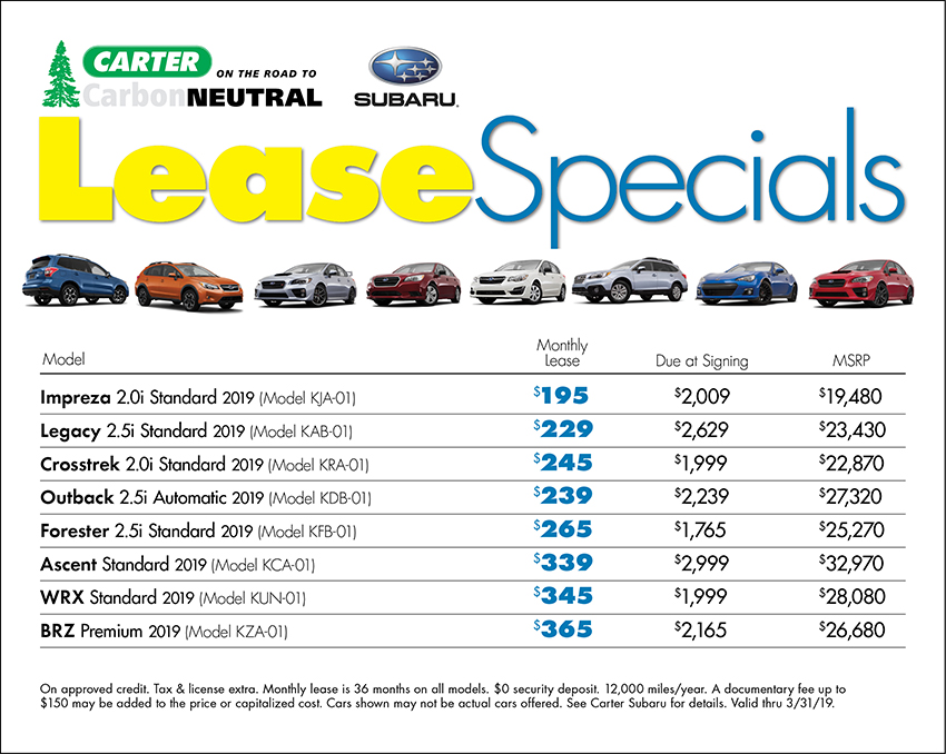 march Lease Special Available at Carter Subaru Shoreline in Seattle, WA