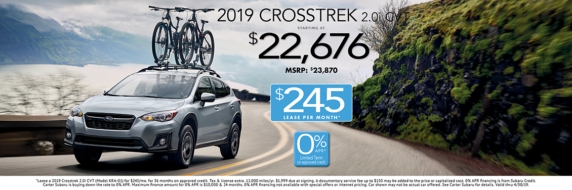 2019 Subaru Crosstrek 2.0i CVT Sales or Lease Special in Seattle, WA