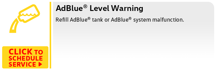 Volkswagen AdBlue Warning