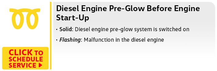 Volkswagen Diesel Engine Pre-Glow Malfunction