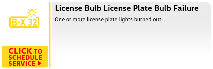 Volkswagen License Plate Bulb Service