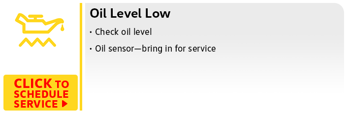 Volkswagen Oil Level Low
