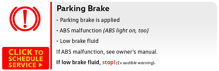 Volkswagen Parking Brake Service
