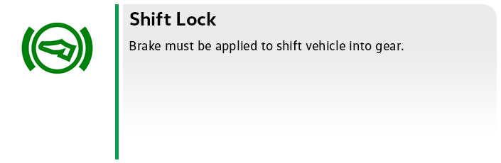 Volkswagen Shift Lock