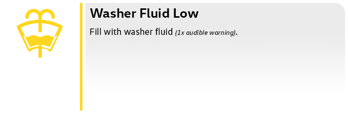 Volkswagen Low Washer Fluid
