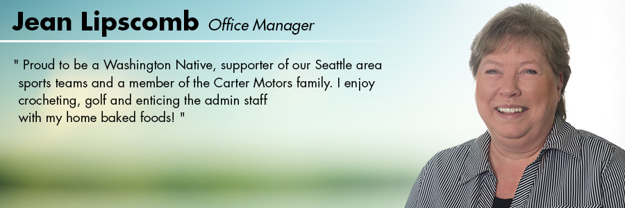 Jean Lipscomb, Office Manager at Carter Volkswagen in Seattle, WA