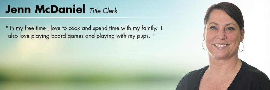 Jenn McDaniel, Title Clerk at Carter Volkswagen in Seattle, WA