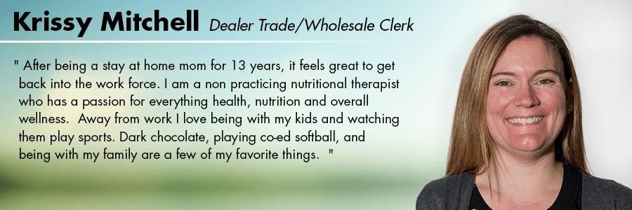 Krissy Mitchell, Dealer Trade/Wholesale Clerk at Carter VW  Ballard in Seattle, WA