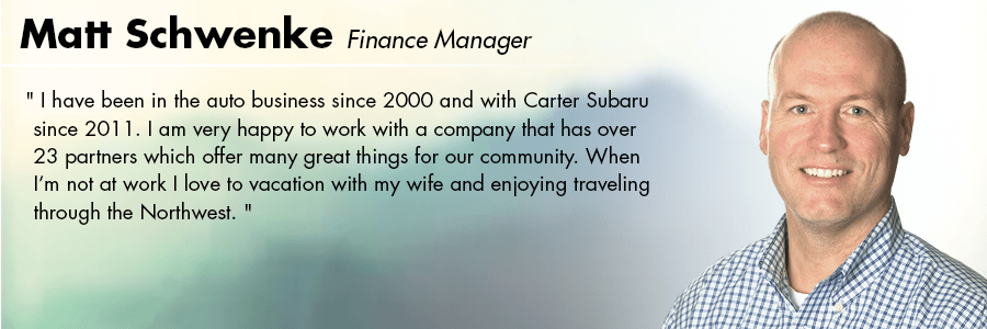 Matt Schwenke Finance Manager at Carter Volkswagen in Seattle, WA