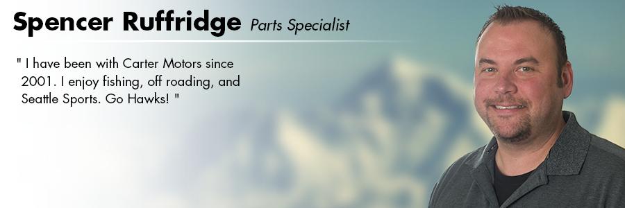 Spencer Ruffridge, Parts Specialist at Carter Volkswagen in Seattle, WA