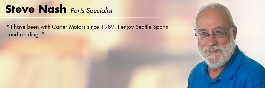 Steve Nash, Parts Specialist at Carter Volkswagen in Seattle, WA