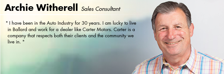 Archie Witherell, Sales Consultant at Carter Volkswagen in Seattle, WA