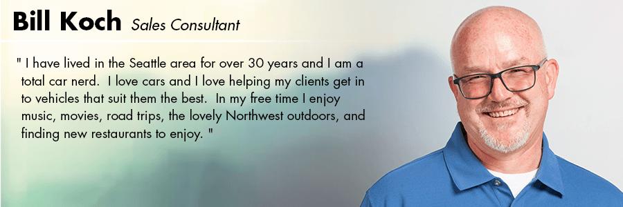 Bill Koch, Sales Consultant at Carter Volkswagen in Seattle, WA