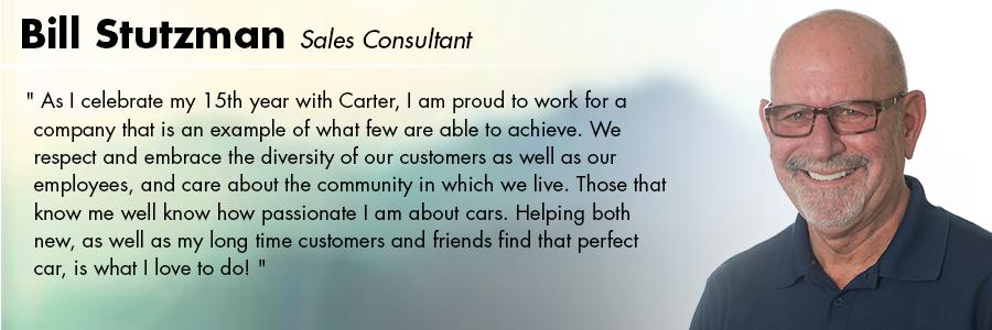 Bill Stutzman, Sales Consultant at Carter Volkswagen in Seattle, WA