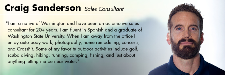 Craig Sanderson, Sales Consultant at Carter Volkswagen in Seattle, WA