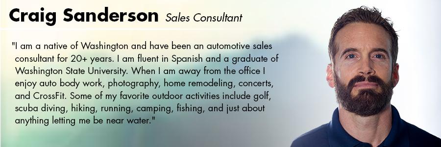 Craig Sanderson, Sales Consultant at Carter Volkswagen in Seattle, WA