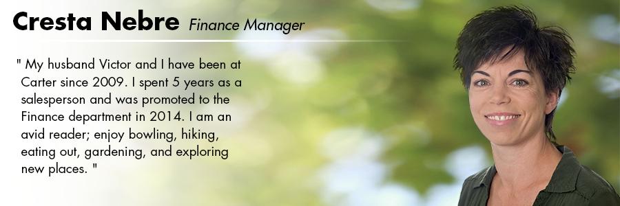 Cresta Nebre, Finance at Carter Volkswagen in Seattle, WA